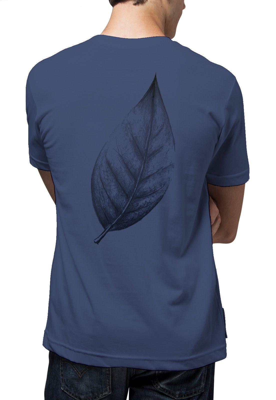 Camiseta Amazônia Big Leaf - Azul