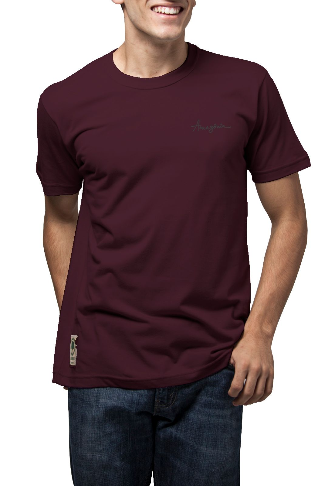 Camiseta Amazônia Big Leaf - Vinho