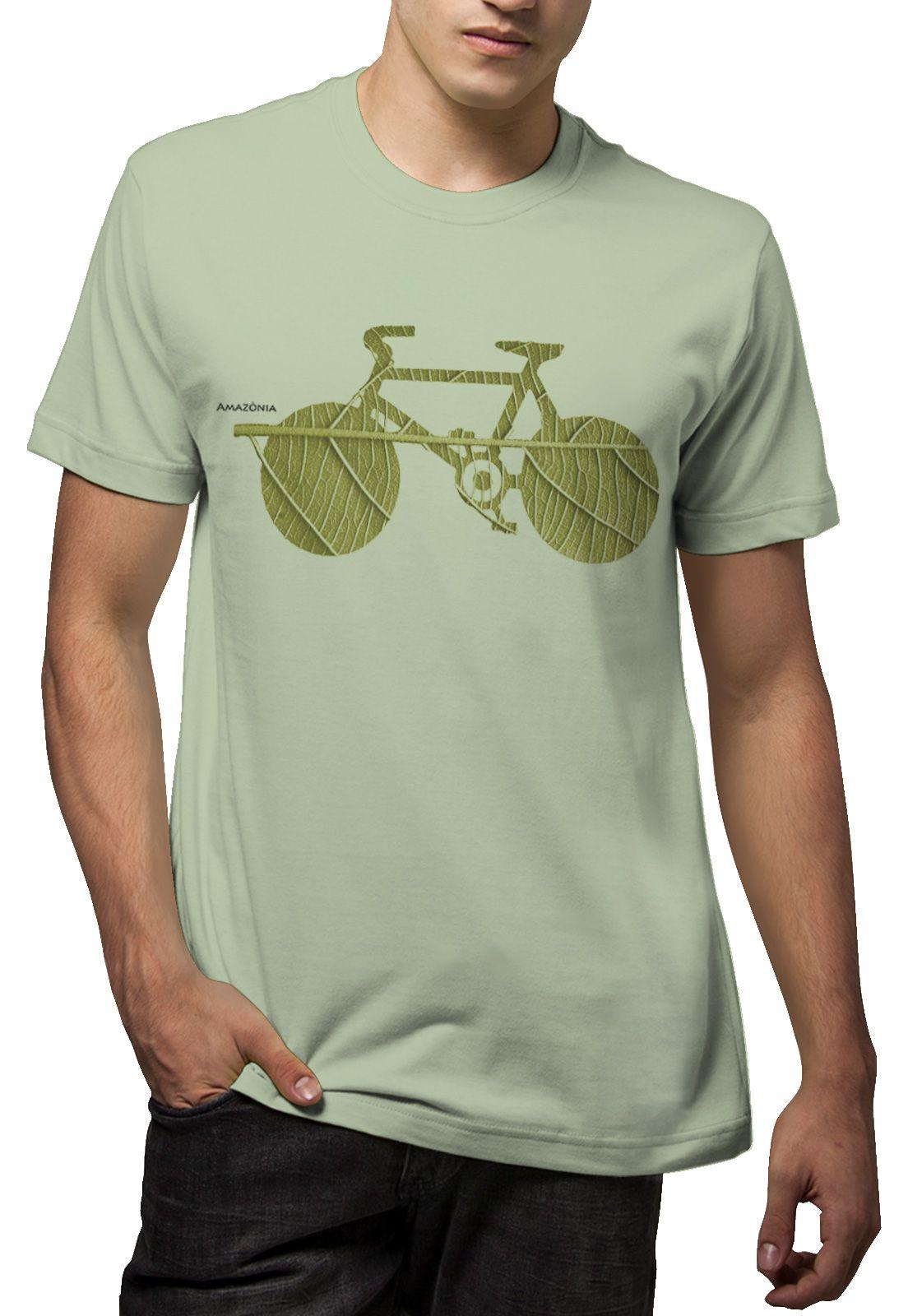Camiseta Amazônia Bike Folha - Verde Claro