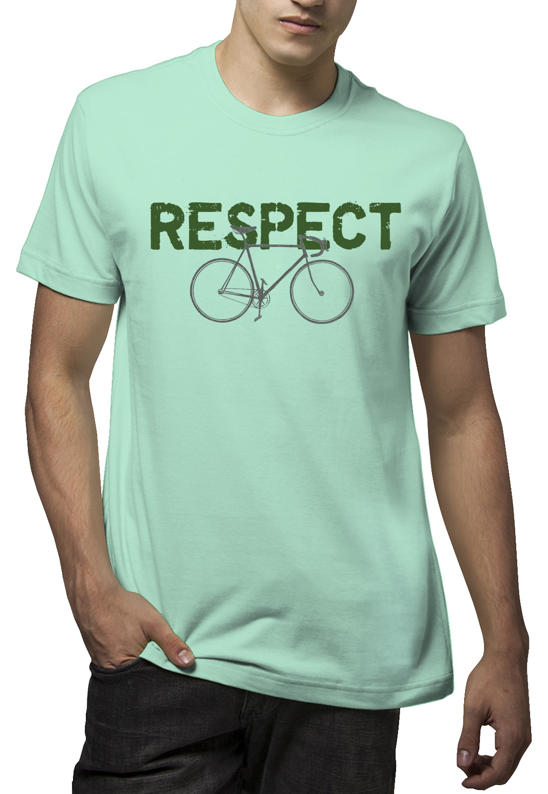 Camiseta Amazônia Bike Respect - Verde Claro