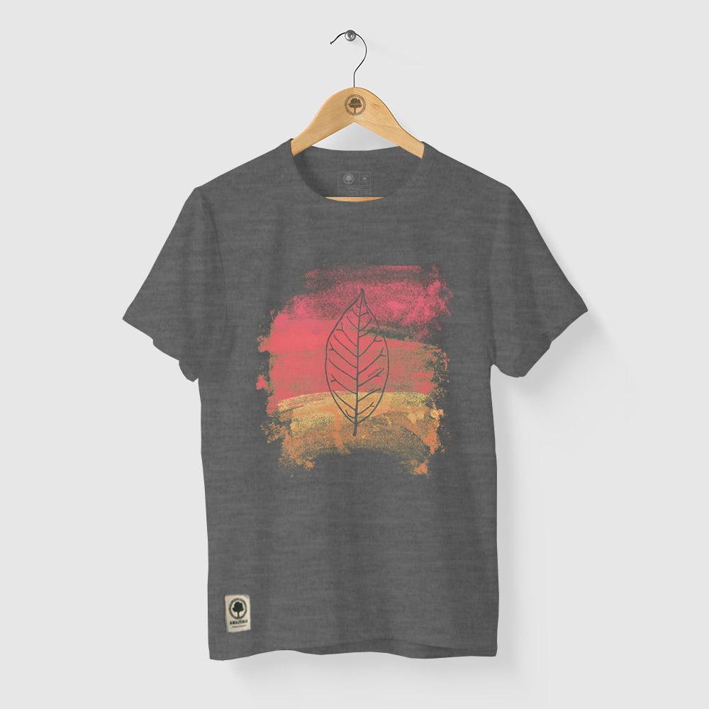 Camiseta Amazônia BIO AQUARELA - MESCLA CINZA