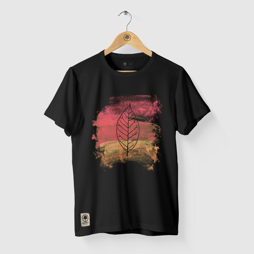 Camiseta Amazônia BIO AQUARELA - PRETO