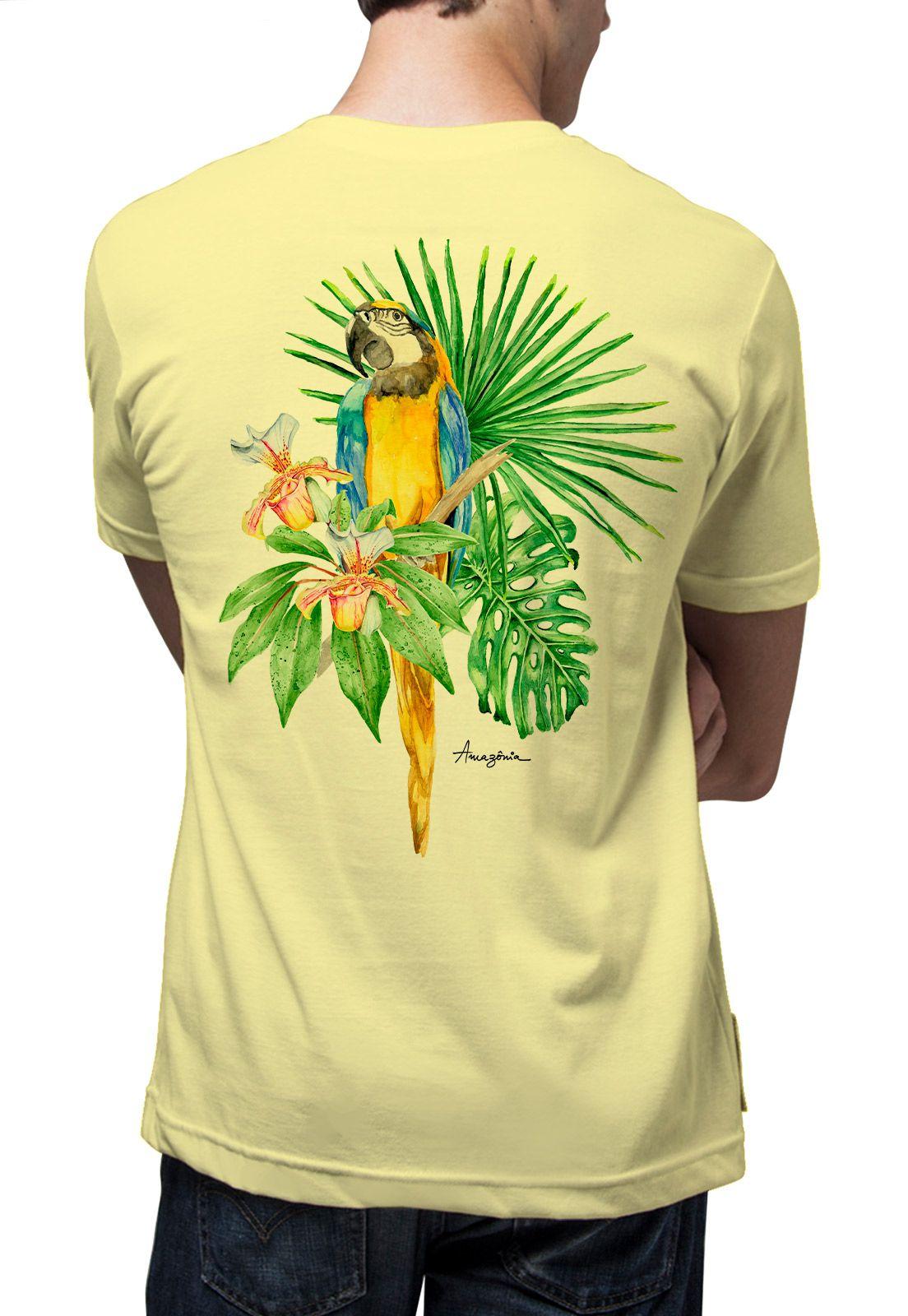 Camiseta Amazônia Bio Arara - Amarelo