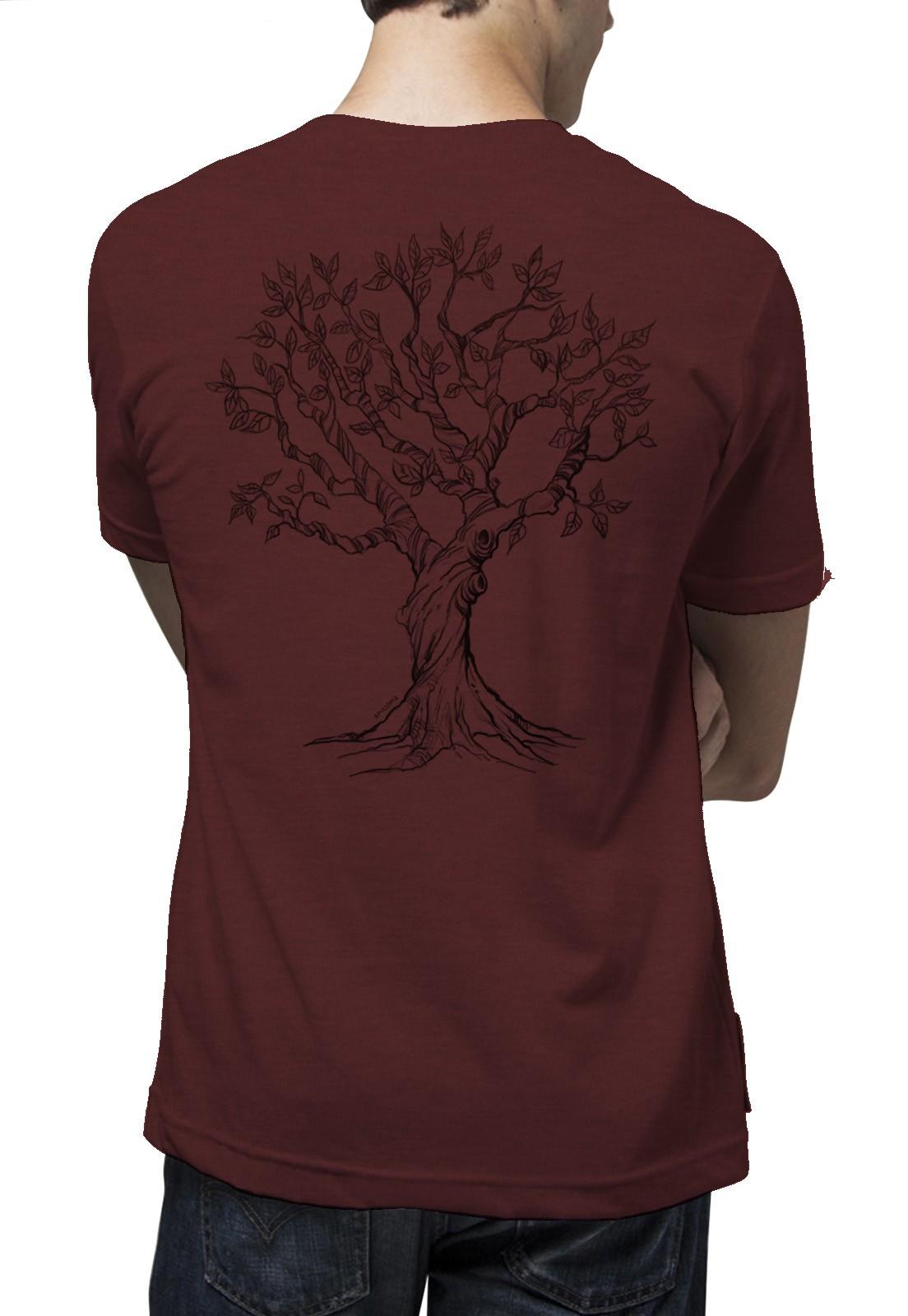 Camiseta Amazônia Bio Cerrado - Mescla Vermelho