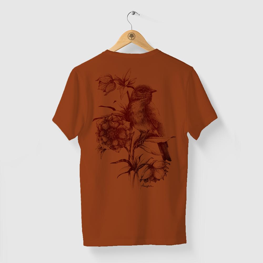 Camiseta Amazônia BIO DEGRADÊ - MARROM