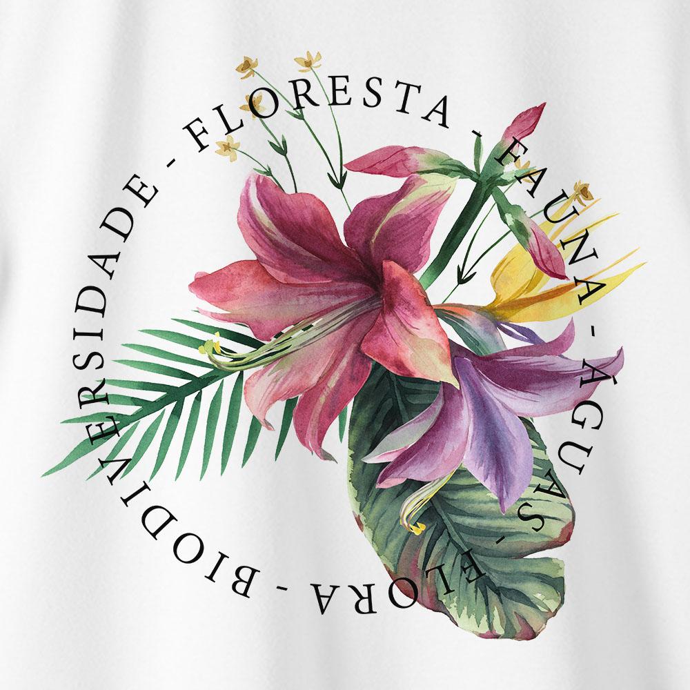 Camiseta Amazônia BIO FLORA - BRANCO
