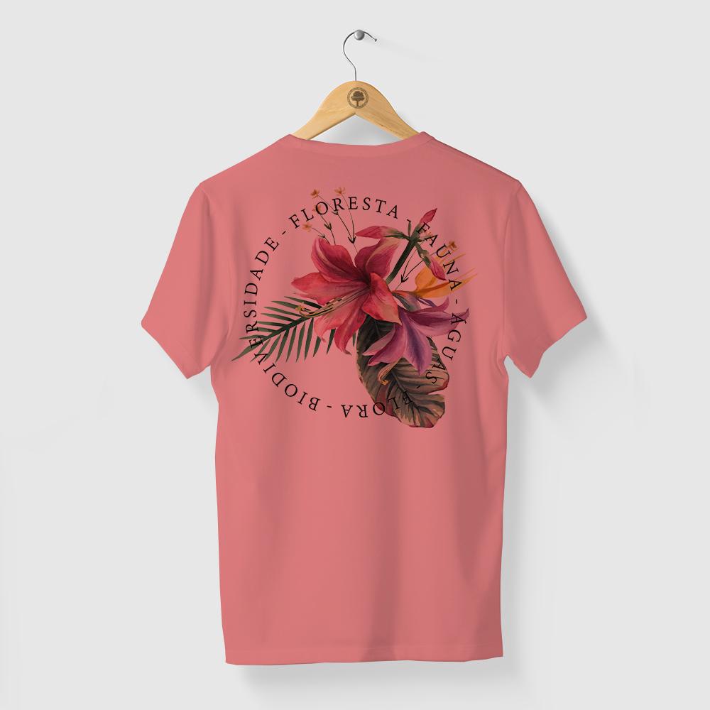 Camiseta Amazônia BIO FLORA - ROSA