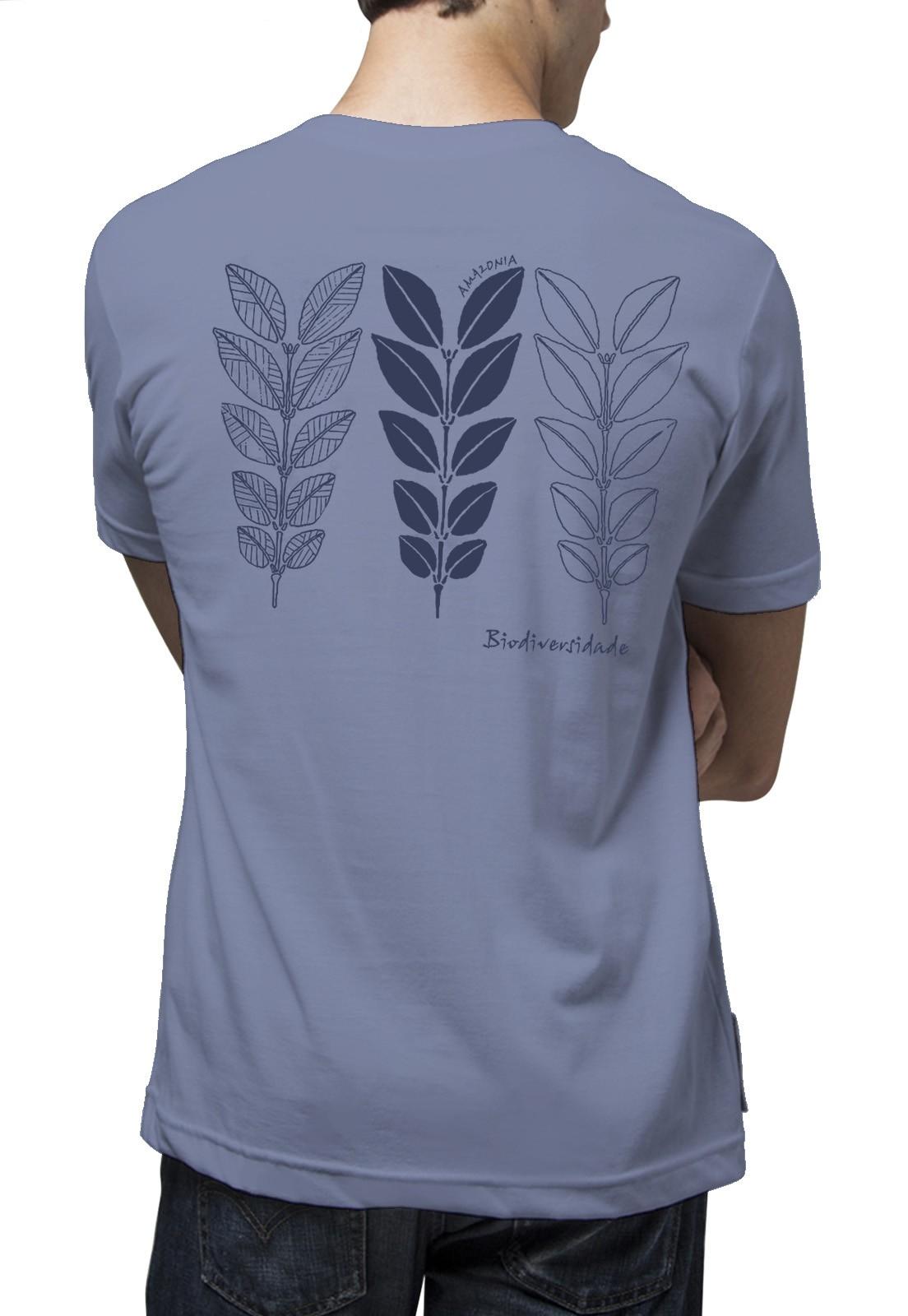 Camiseta Amazônia Biodiversidade - Lilás