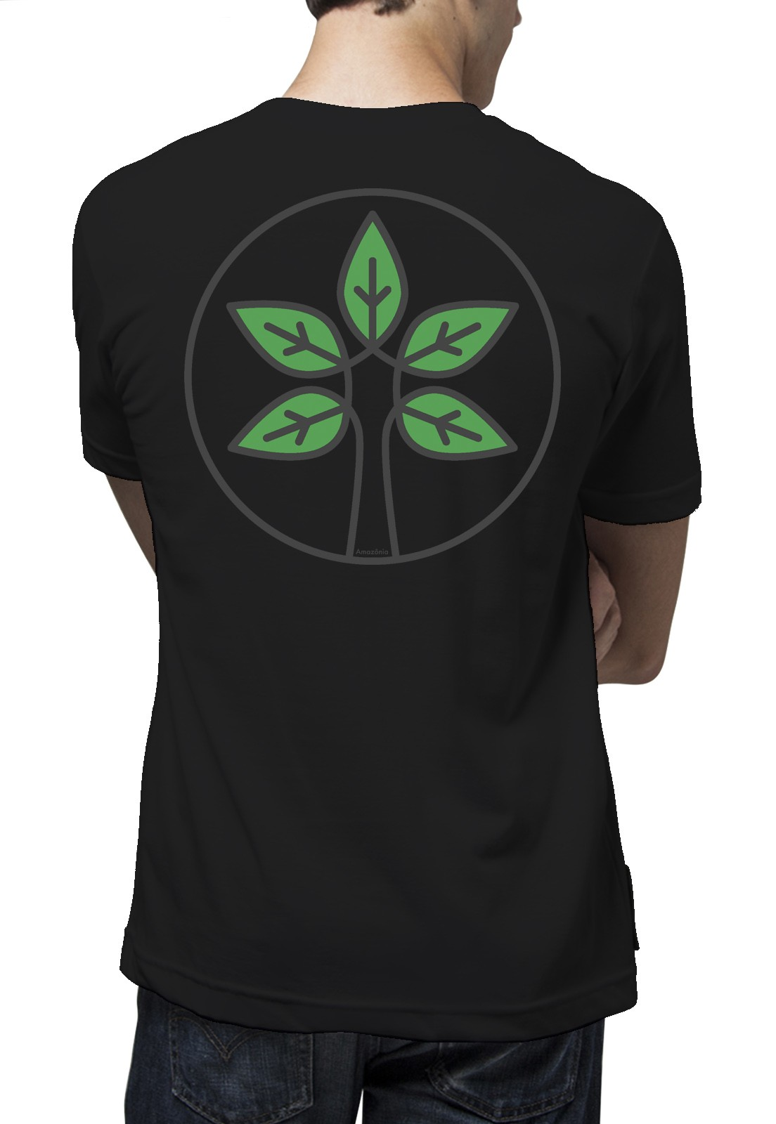 Camiseta Amazônia BioLeaf - Preto