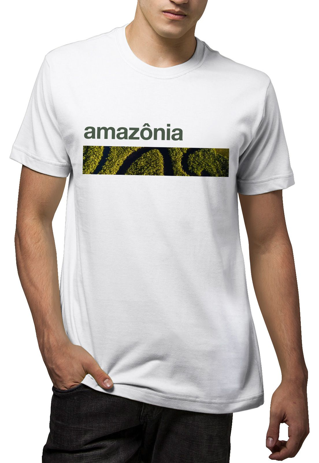 Camiseta Amazônia Bioma Amazônia - Branco