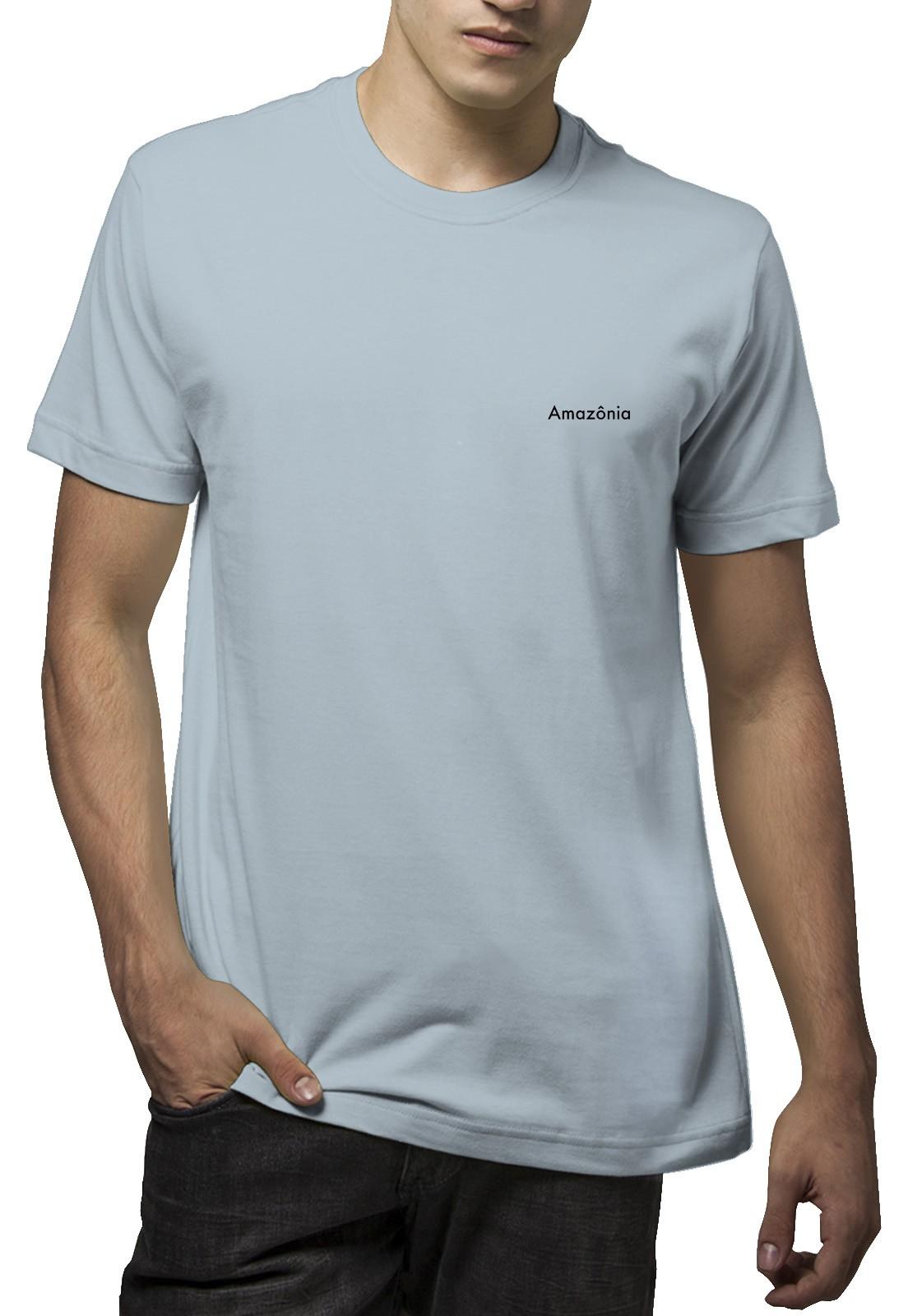 Camiseta Amazônia Bioplantas - Azul