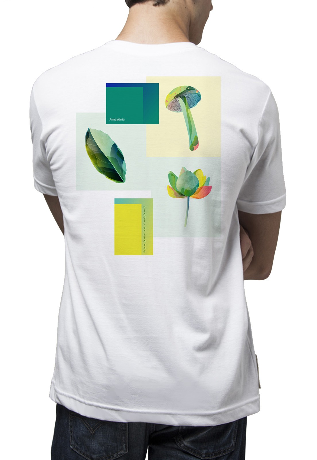 Camiseta Amazônia Bioplantas - Branco