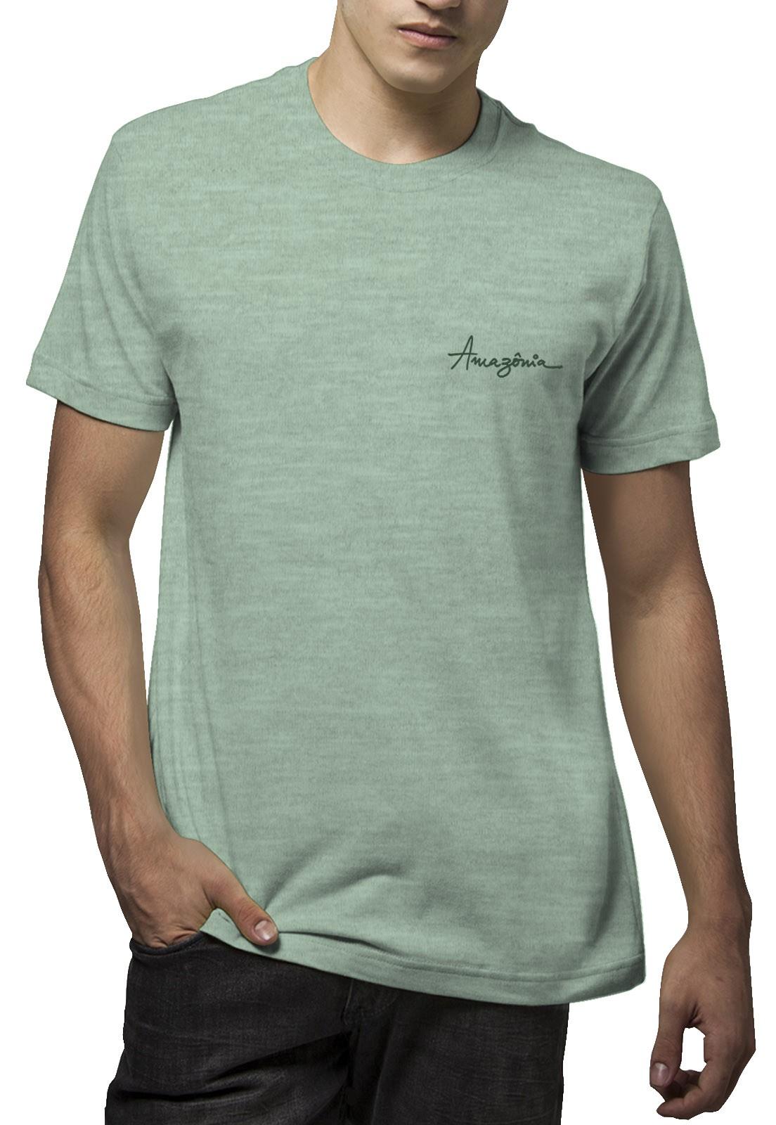 Camiseta Amazônia Bird Tree - Verde Mescla