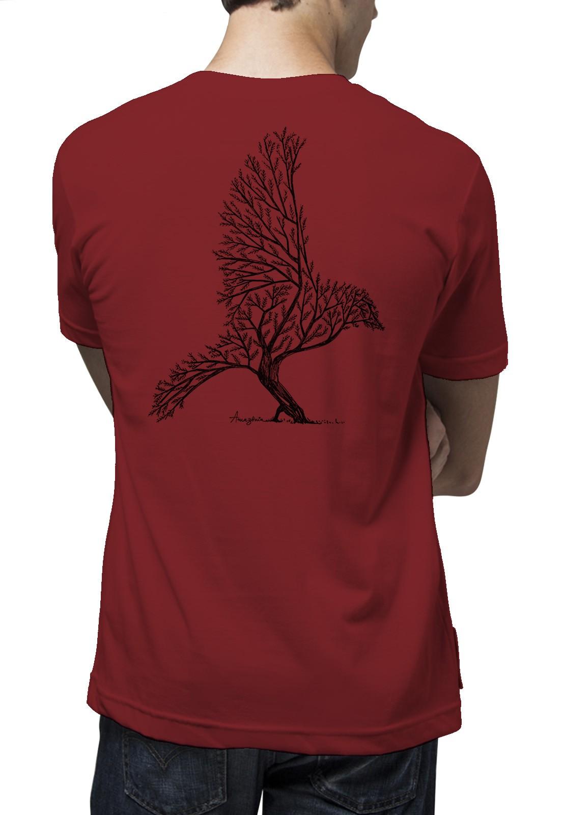 Camiseta Amazônia Bird Tree - Vermelho