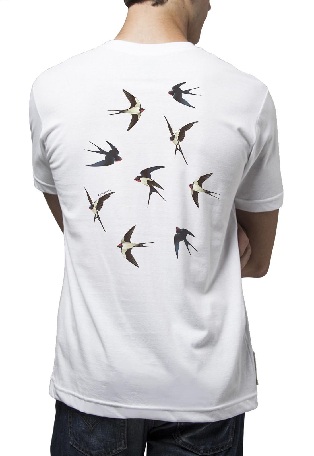 Camiseta Amazônia Birds - Branco