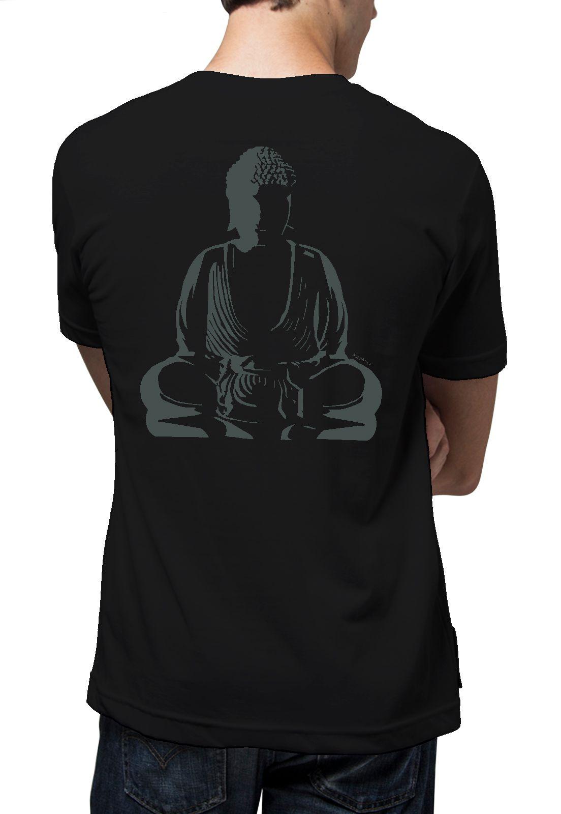 Camiseta Amazônia Buda Luz - Preto