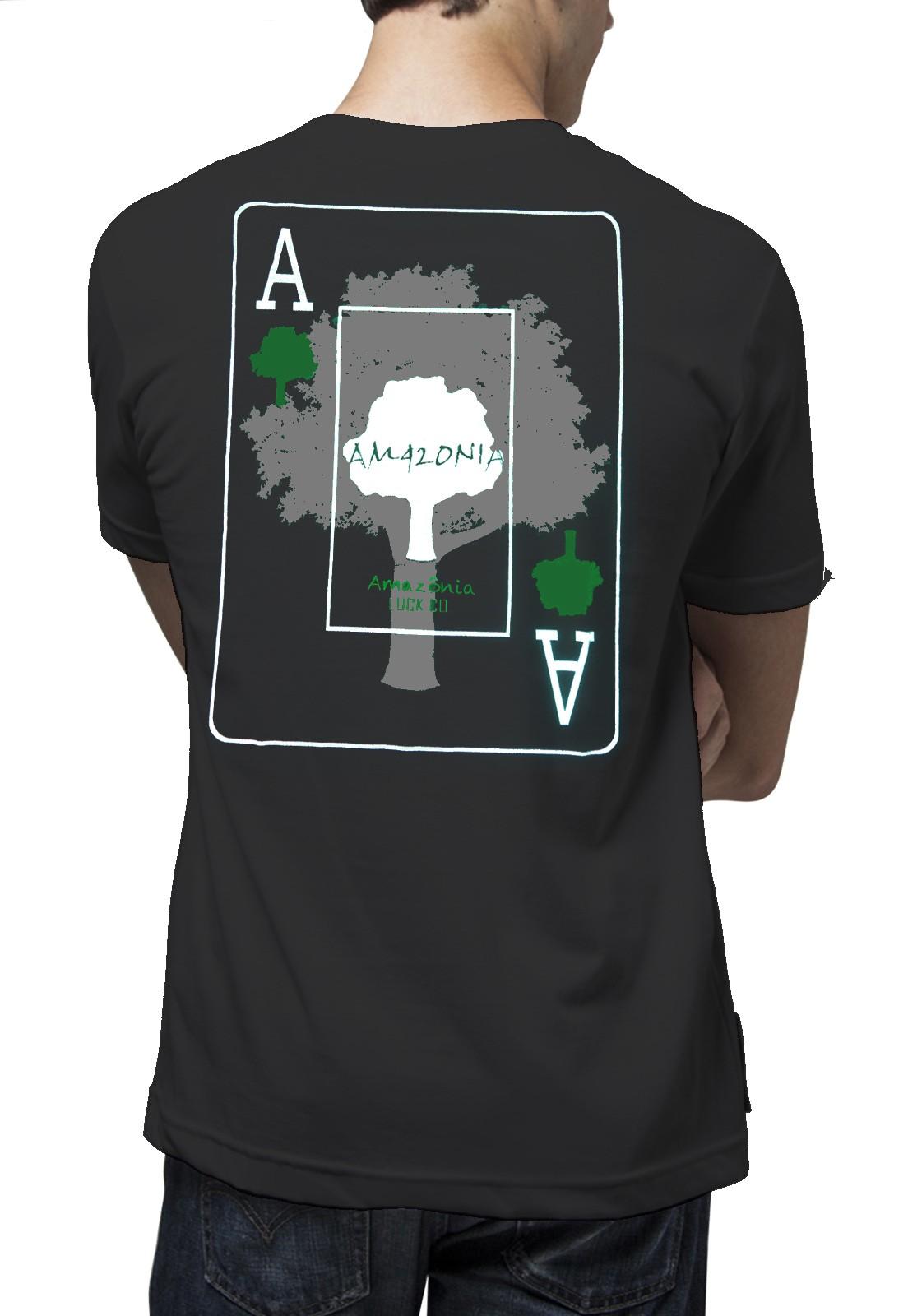 Camiseta Amazônia Carta do Baralho - Preto