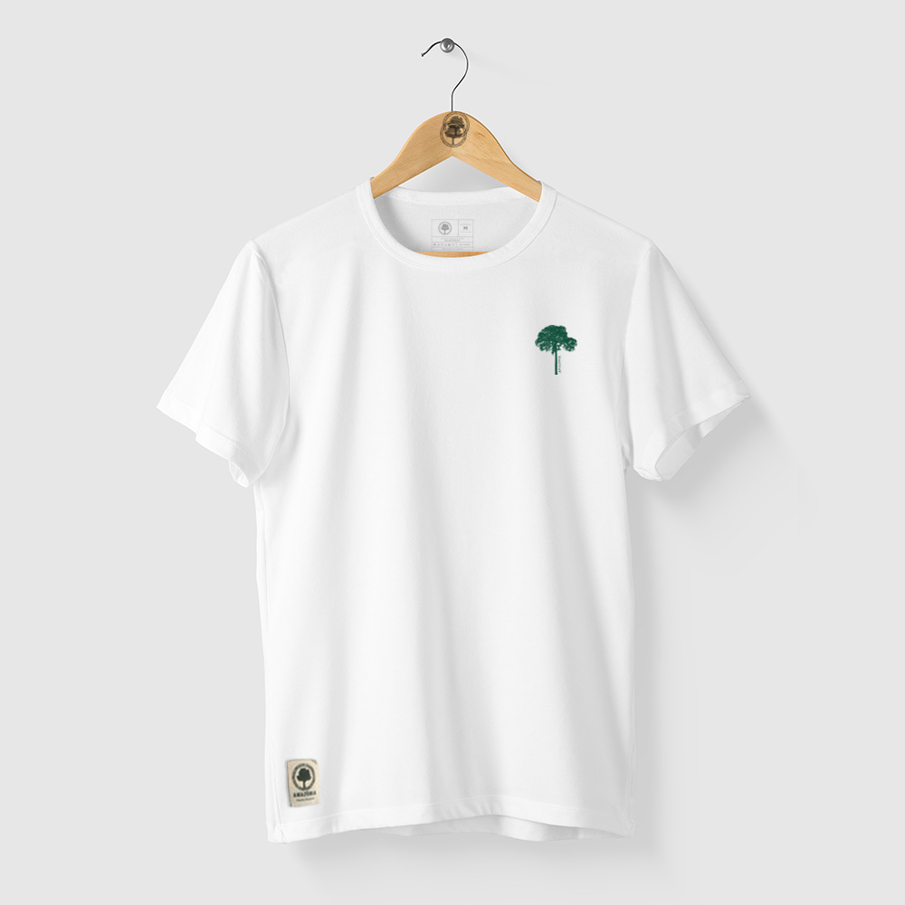 Camiseta Amazônia CASTANHEIRA DA AMAZÔNIA - BRANCO