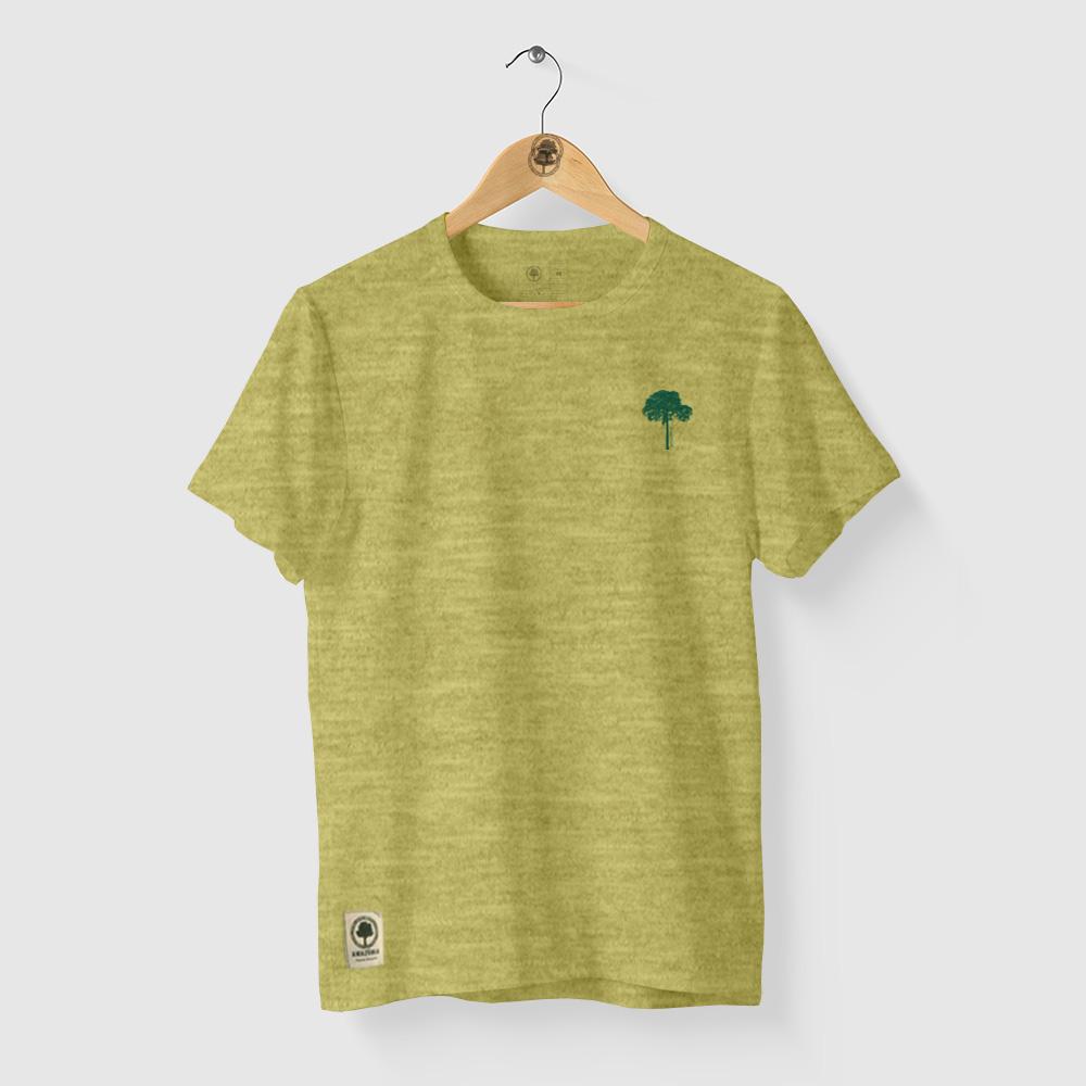 Camiseta Amazônia CASTANHEIRA DA AMAZÔNIA - MESCLA AMARELO
