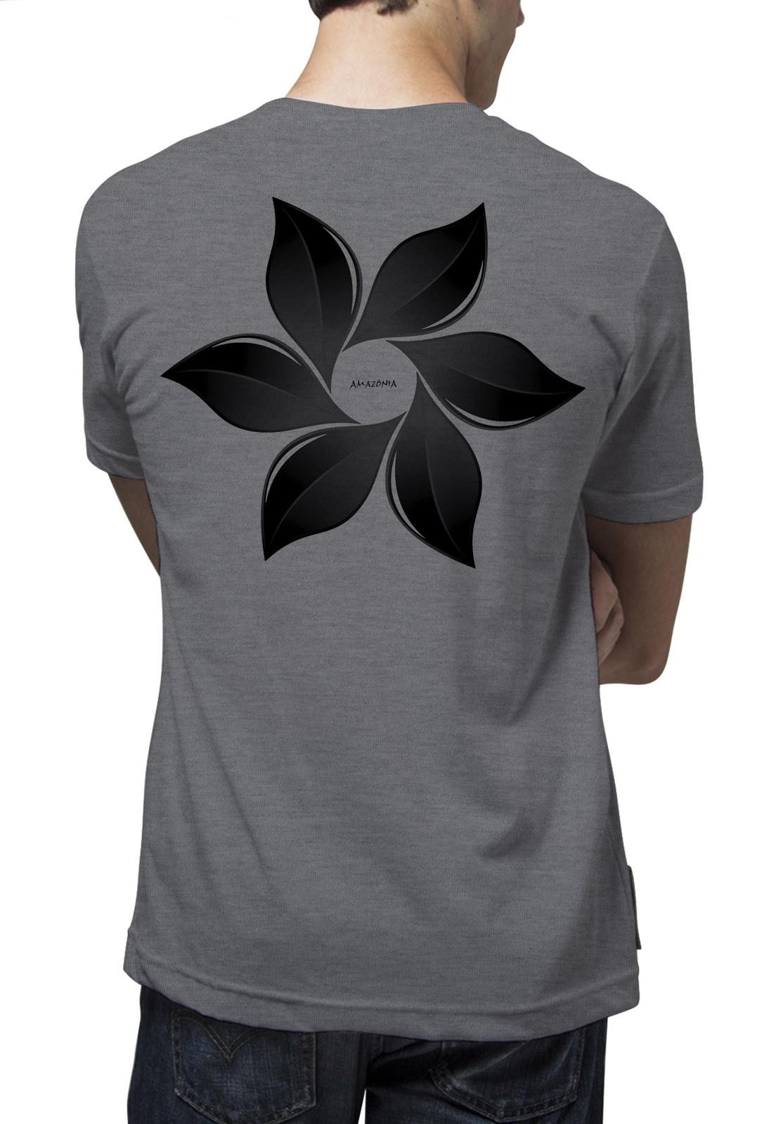 Camiseta Amazônia Catavento - Mescla Escuro