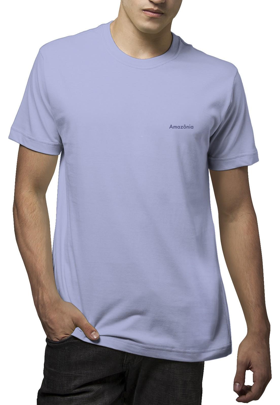 Camiseta Amazônia Caule Folha - Azul