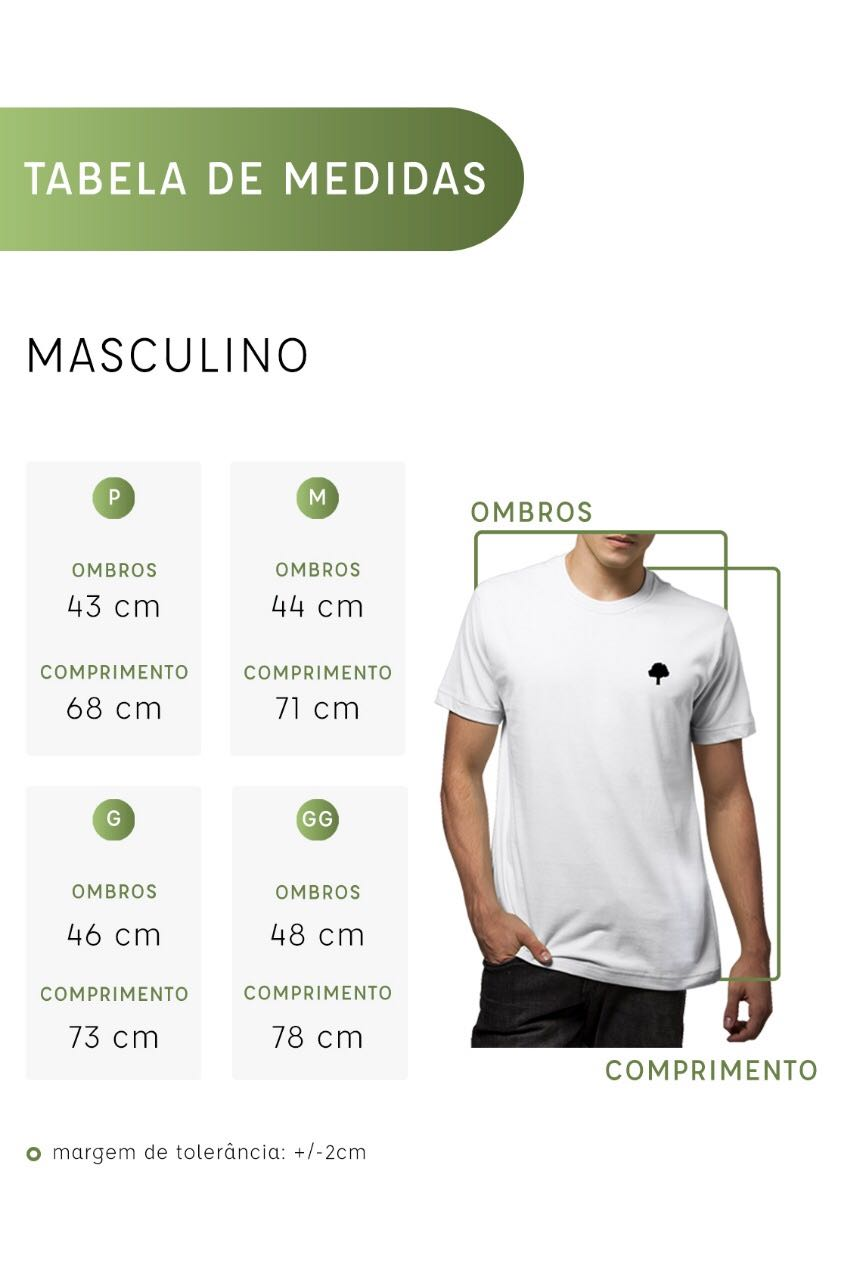 Camiseta Amazônia Caule Folha - Branco