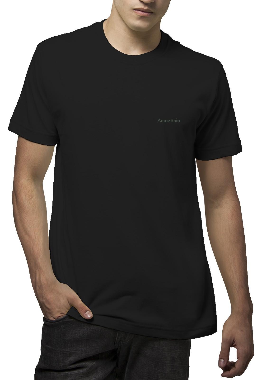 Camiseta Amazônia Caule Folha - Preto