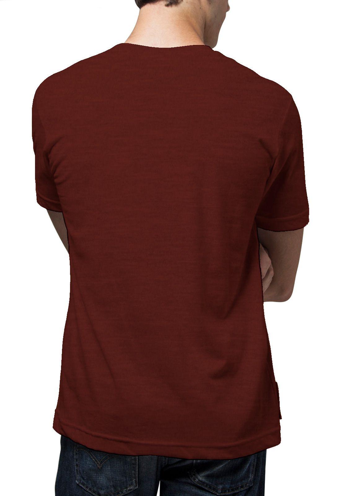 Camiseta Amazônia Caveira - Mescla Vinho