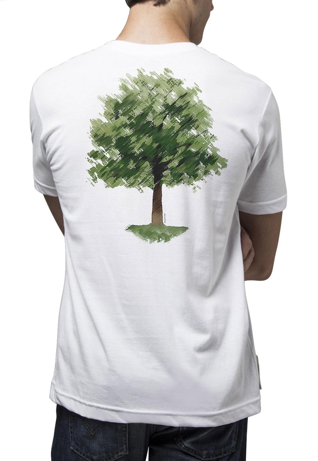 Camiseta Amazônia Chalk Tree - Branco