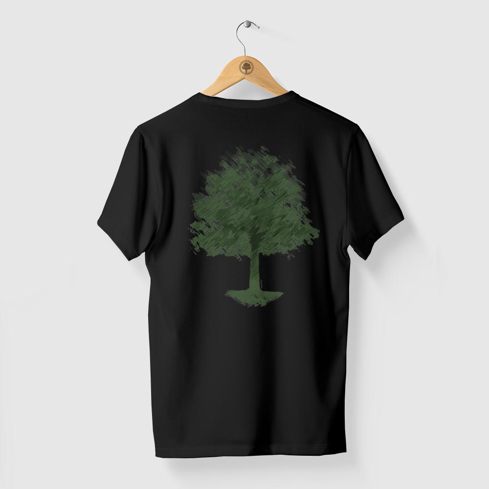 Camiseta Amazônia Chalk Tree - Preto
