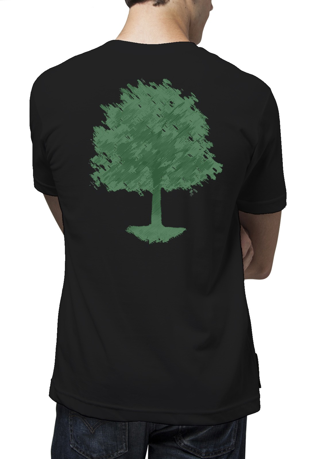 Camiseta Amazônia Chalk Tree - Preto