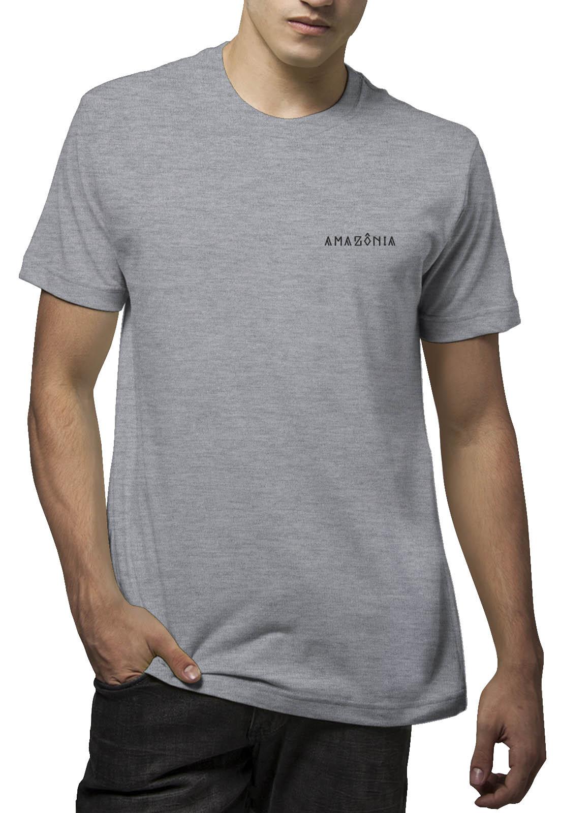 Camiseta Amazônia Cocar Indígena - Mescla