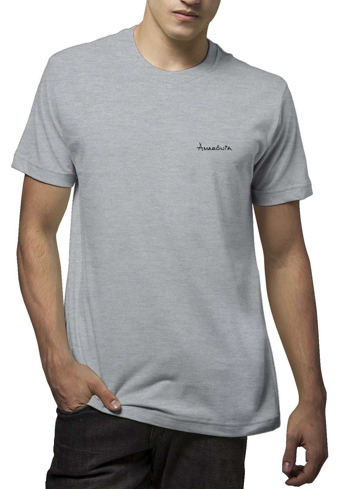 Camiseta Amazônia Color Índio - Mescla