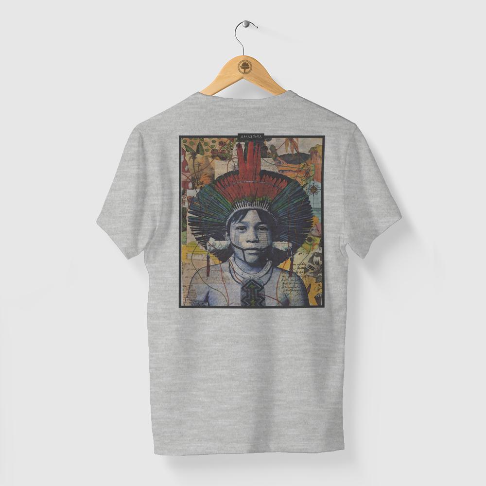 Camiseta Amazônia Color Índio - Mescla Claro