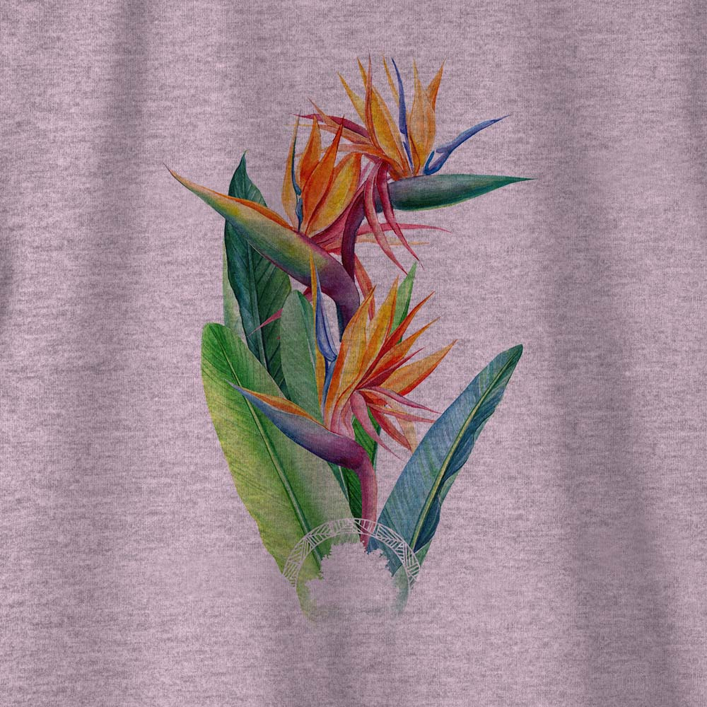 Camiseta Amazônia  CORES FLORA - MESCLA LILÁS