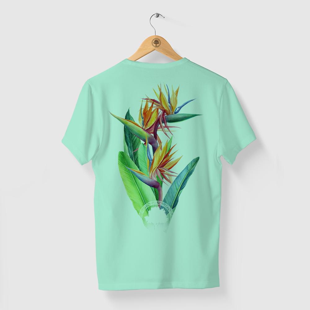 Camiseta Amazônia CORES FLORA - VERDE CLARO