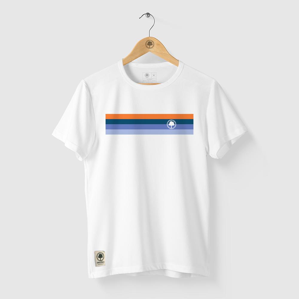 Camiseta Amazônia Cores Logo - Branco