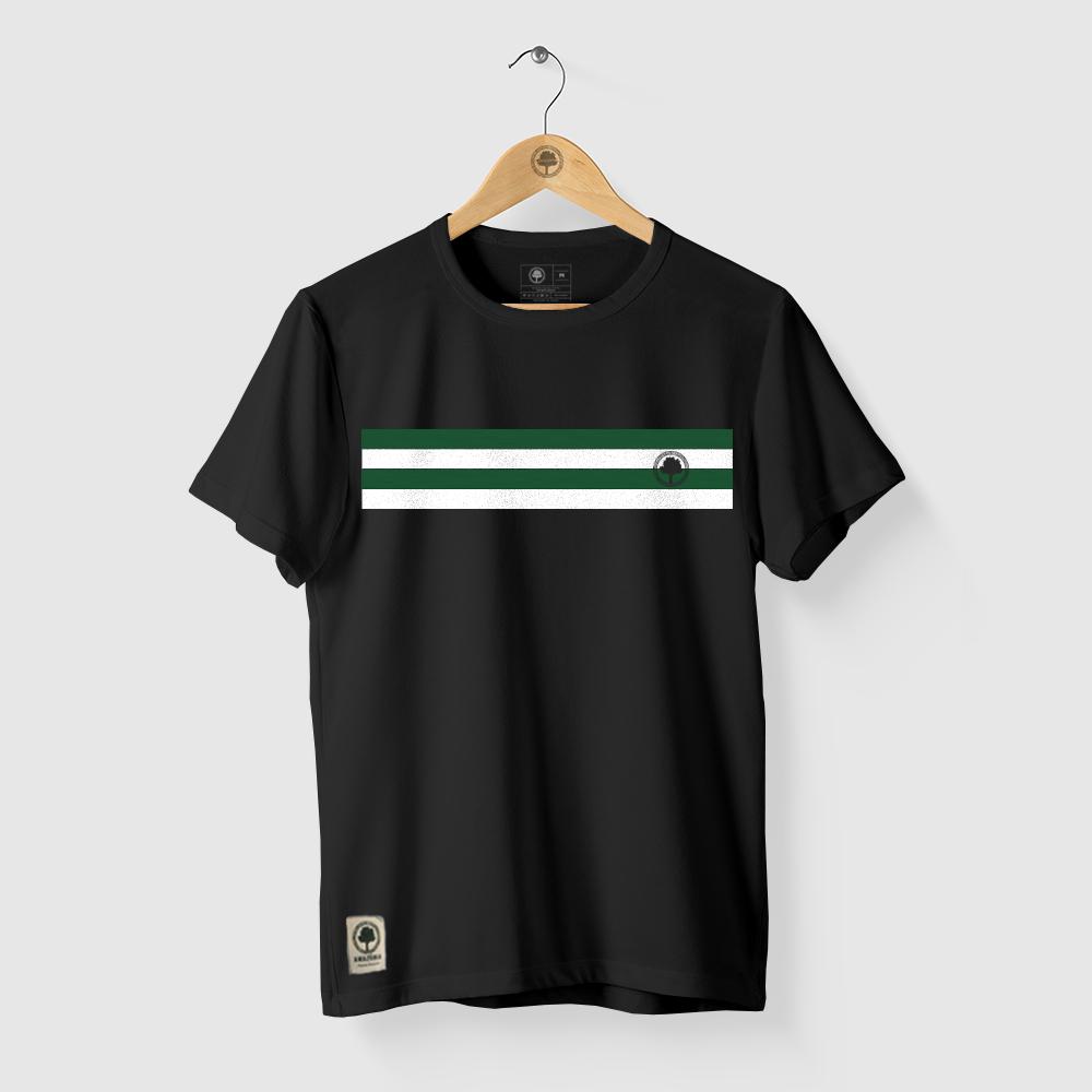 Camiseta Amazônia CORES LOGO - PRETO