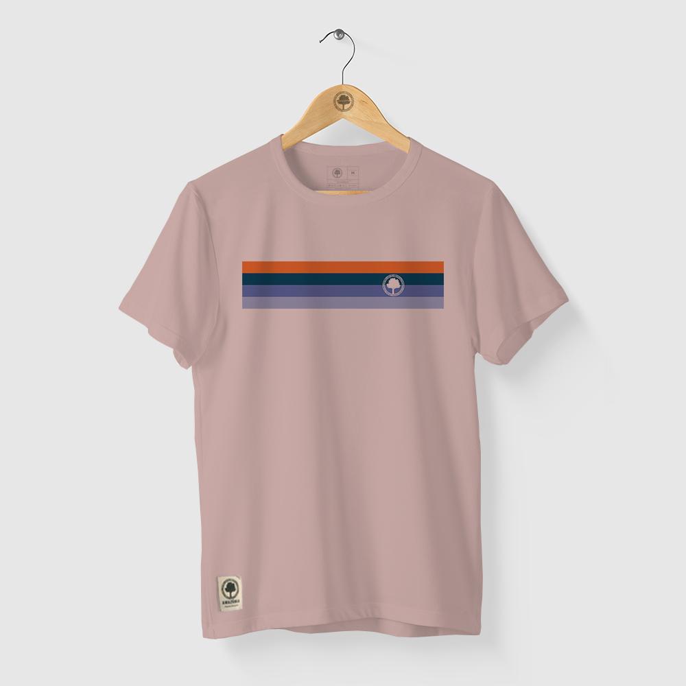 Camiseta Amazônia Cores Logo - Rosa Claro