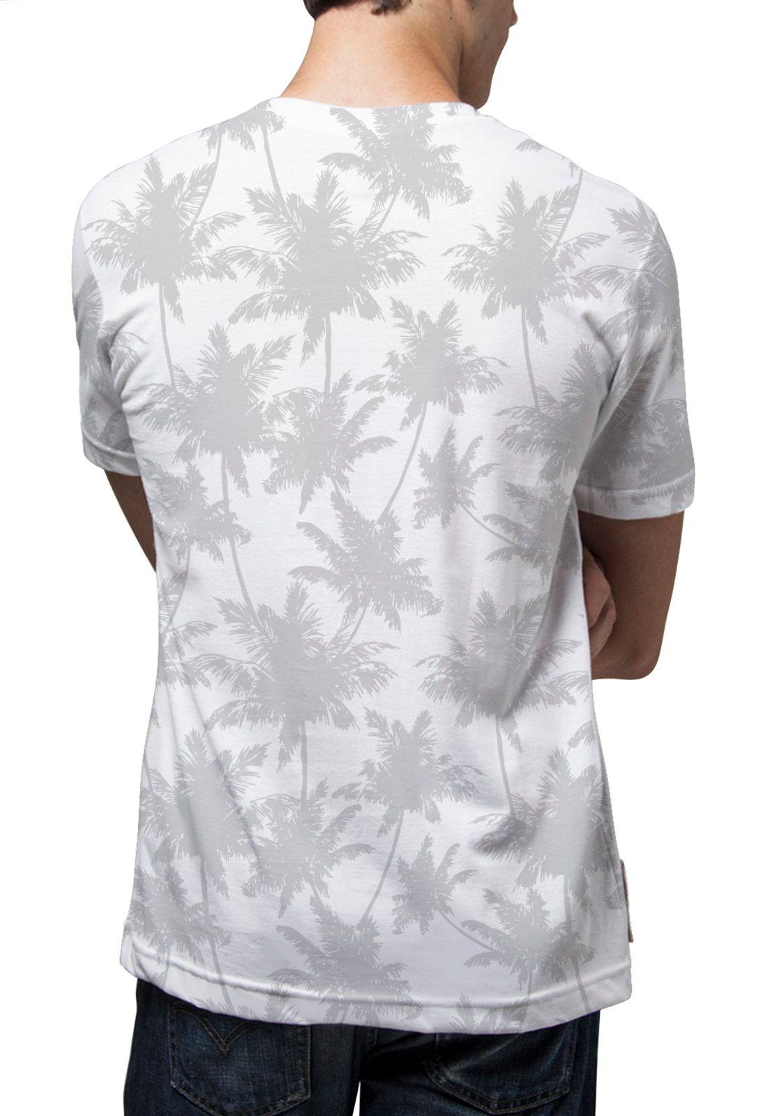 Camiseta Amazônia Corrido Coqueiros - Branco