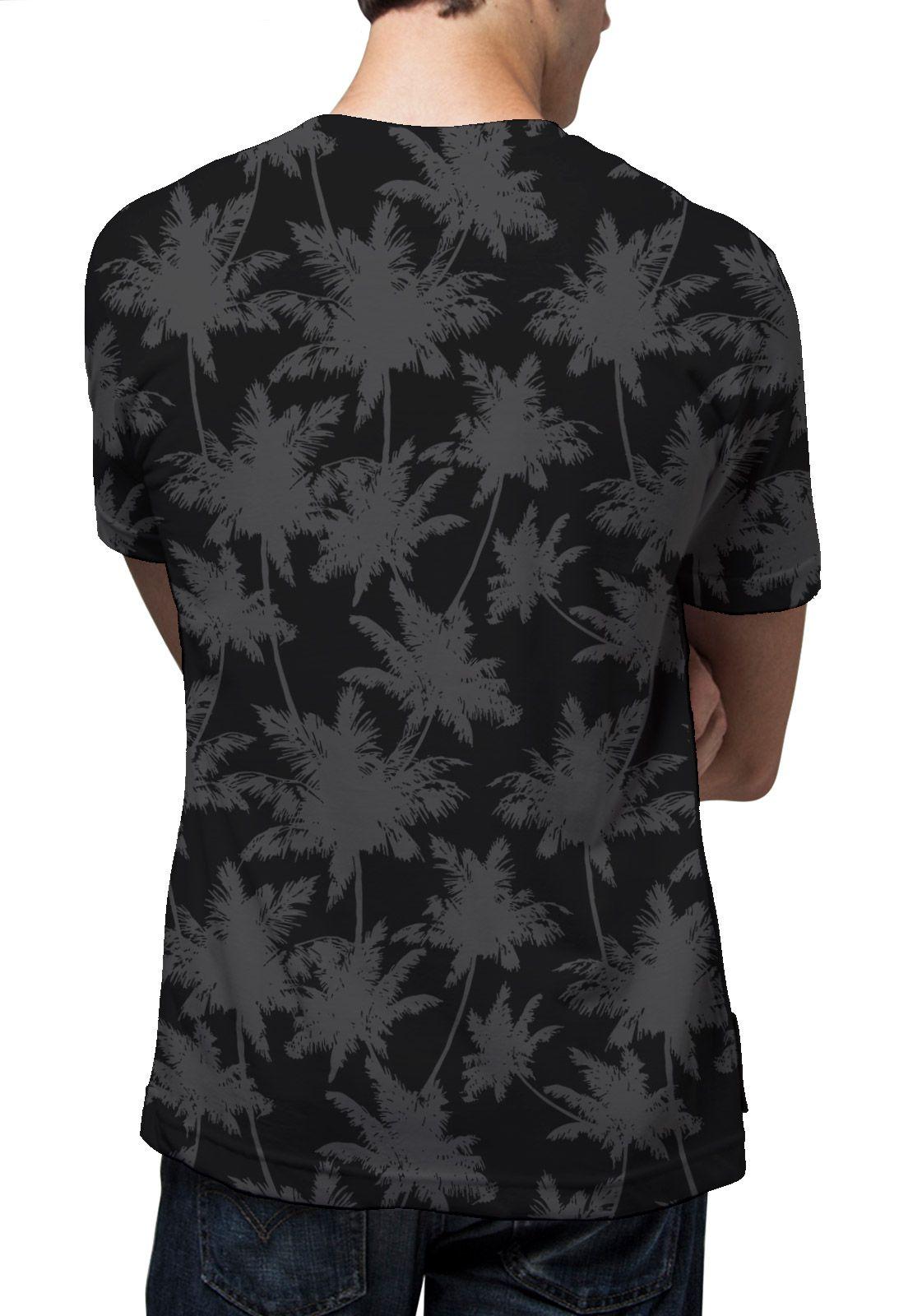 Camiseta Amazônia Corrido Coqueiros - Preto