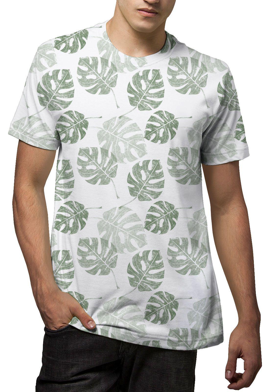 Camiseta Amazônia Corrido Costela de Adão - Branco