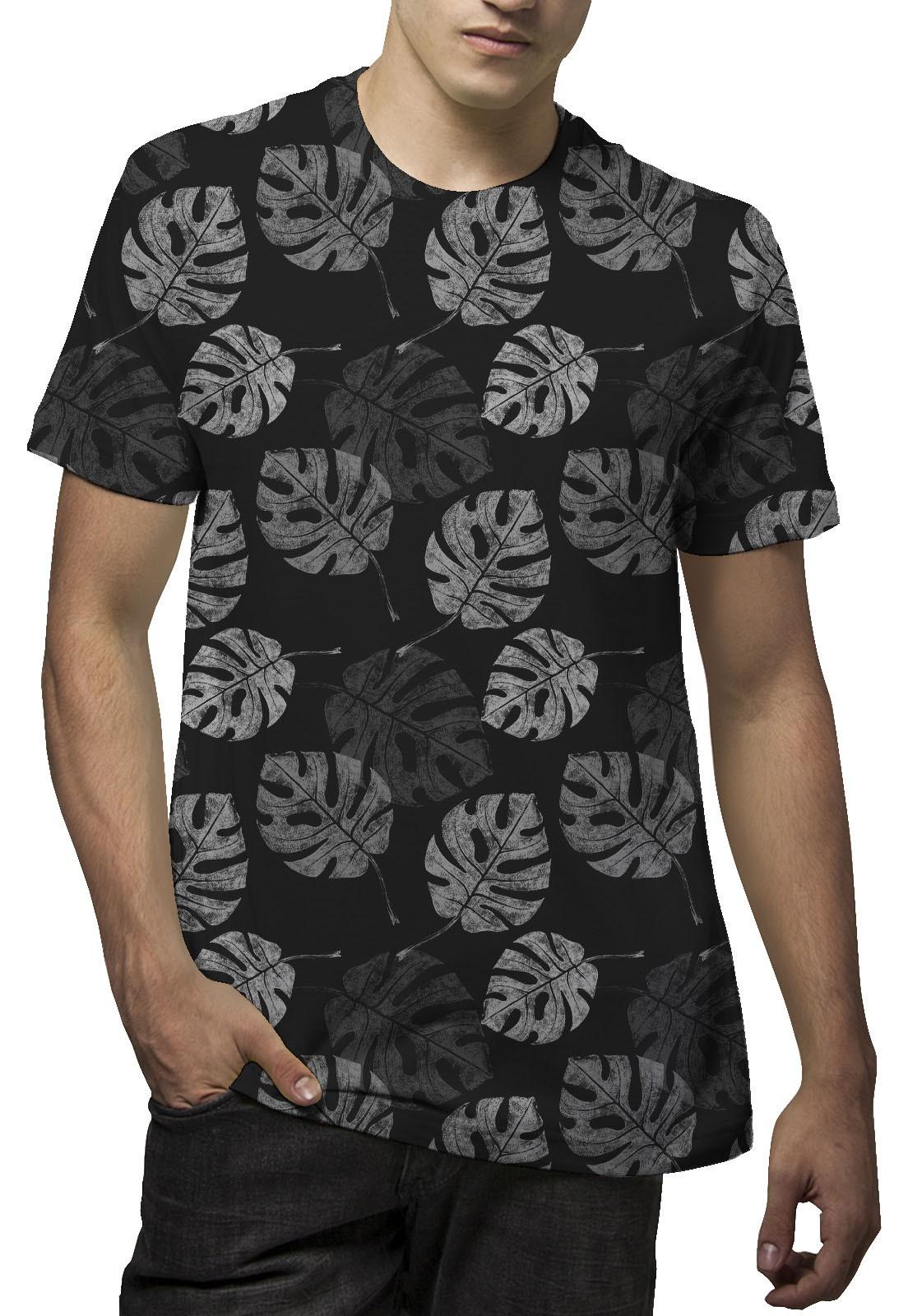 Camiseta Amazônia Corrido Costela de Adão - Preto