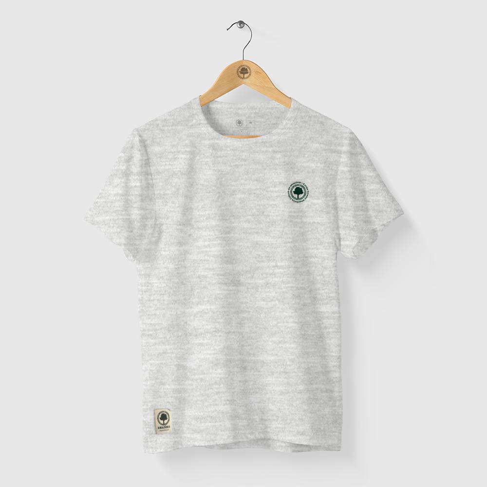 Camiseta Amazônia CORUJA FLORESTA - MESCLA CINZA