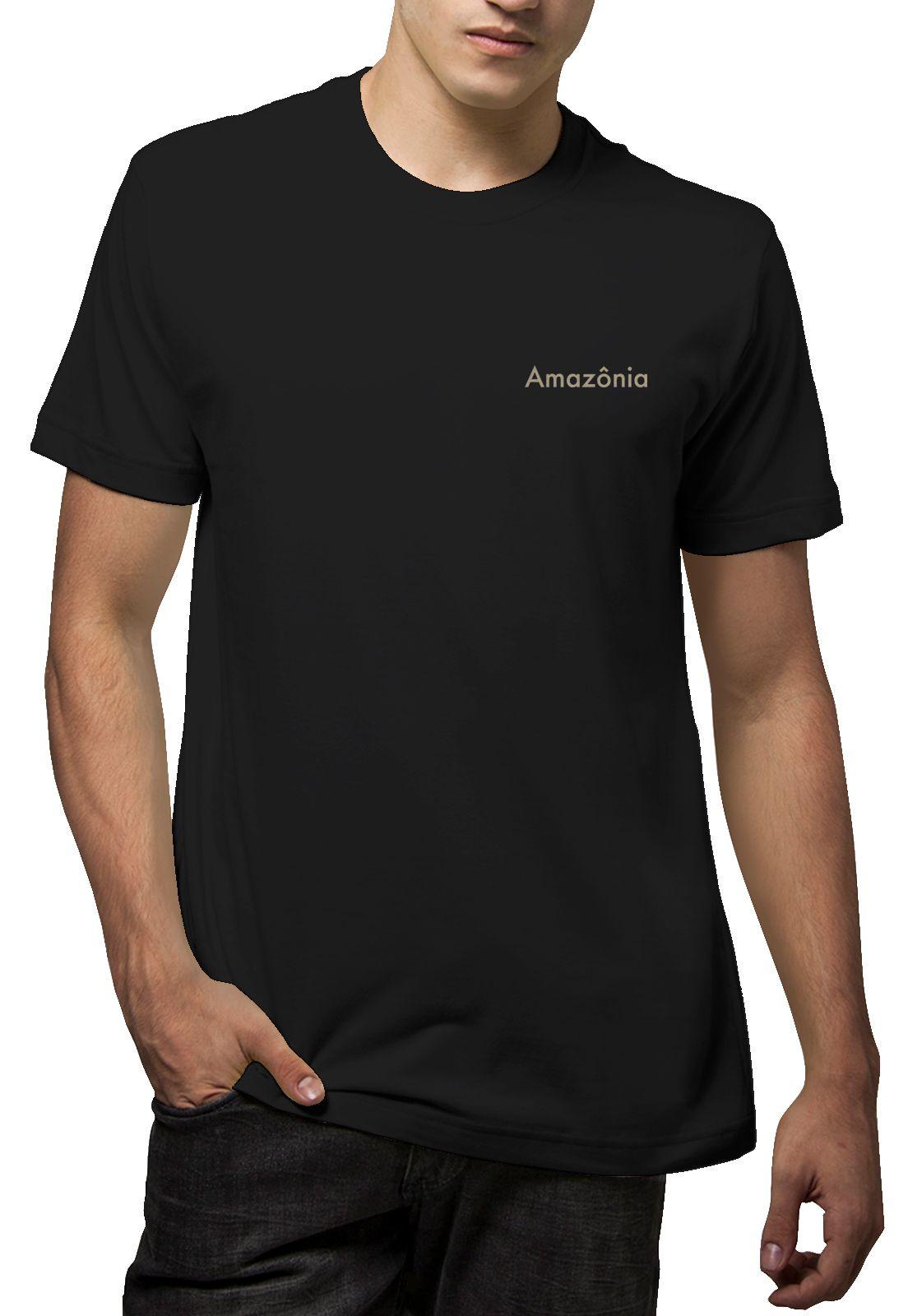 Camiseta Amazônia Coruja Grafismo - Preto