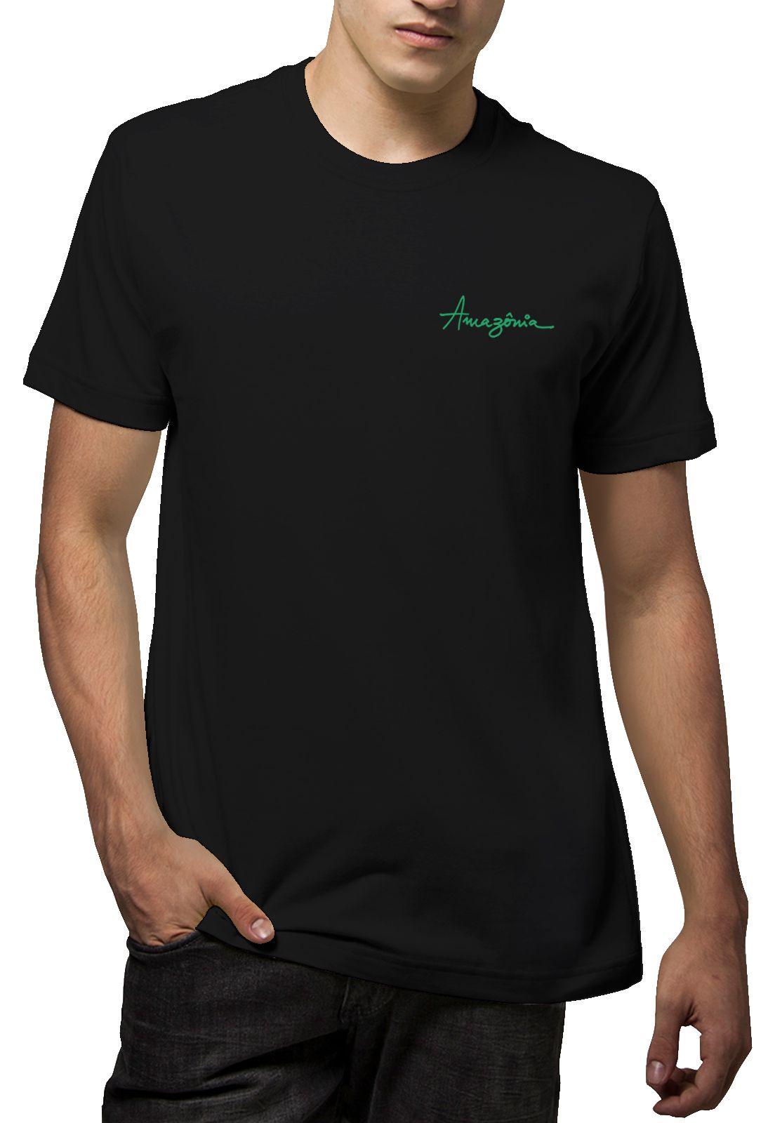 Camiseta Amazônia Costela de Adão - Preto