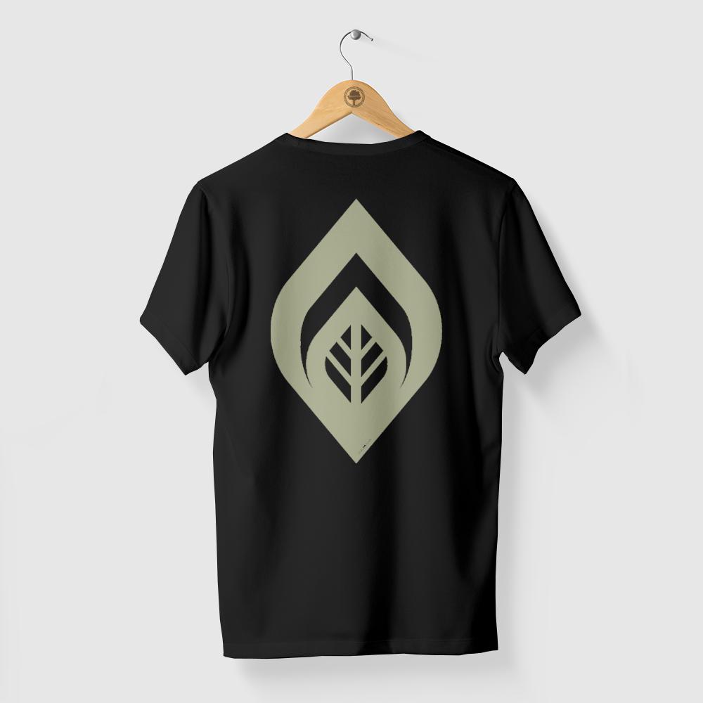 Camiseta Amazônia Crescimento Folha - Preto