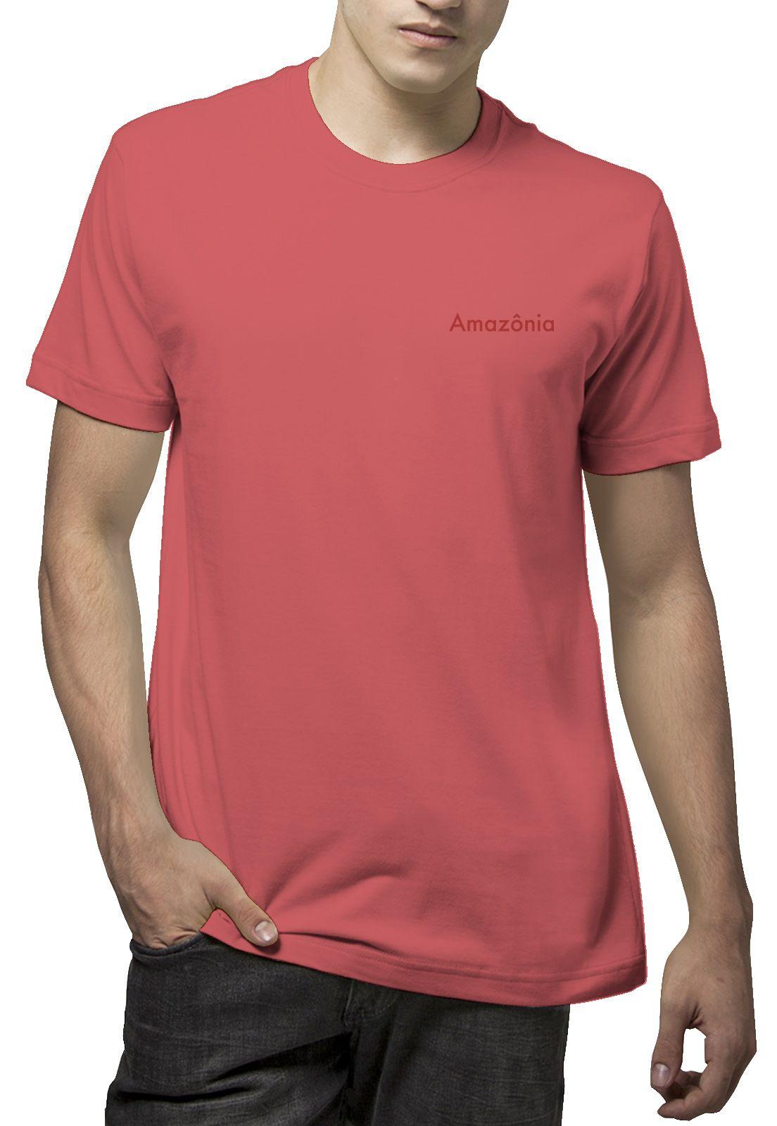 Camiseta Amazônia Crescimento Folha - Vermelho
