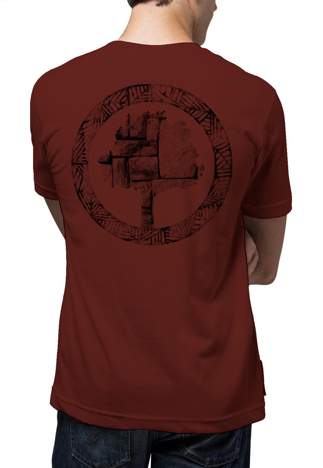 Camiseta Amazônia Cuzco Wall - Vinho