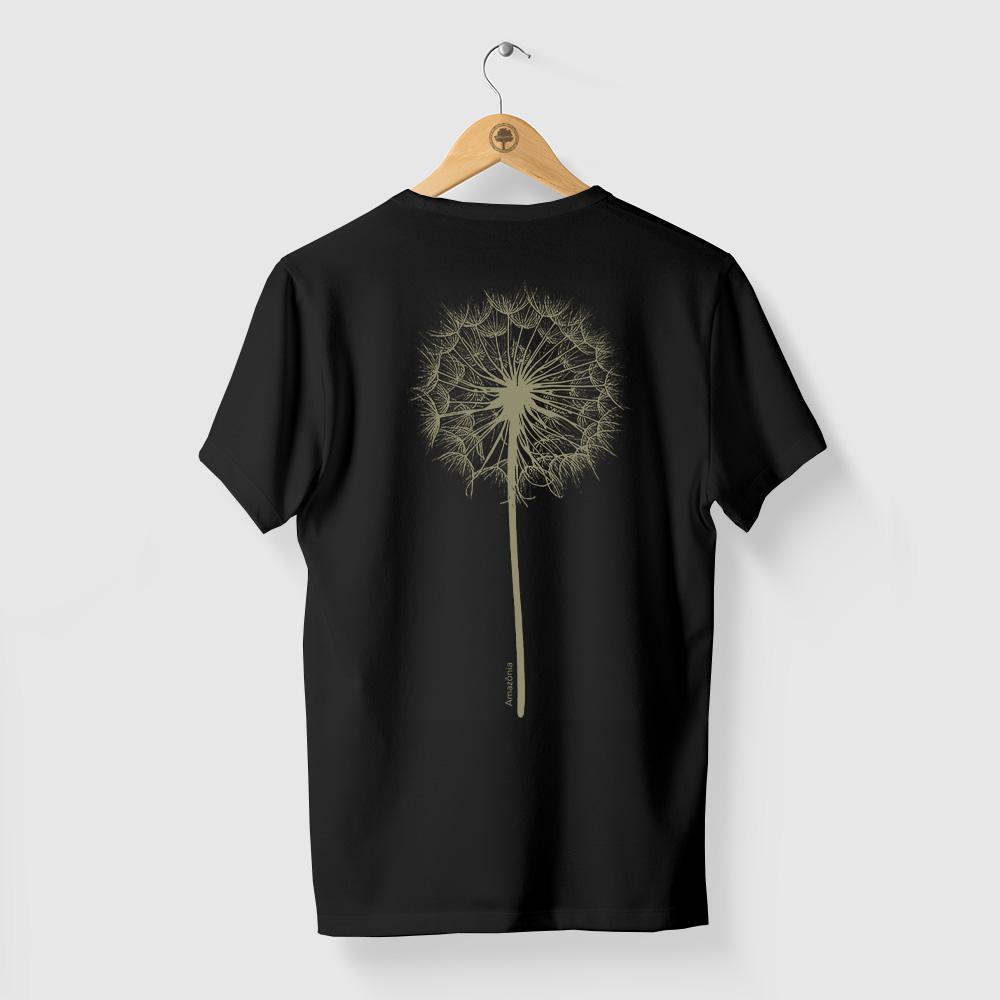 Camiseta Amazônia Dandelion - Preto
